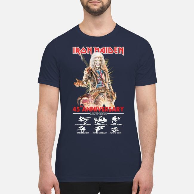 Iron Maiden 45th anniversary 1975 2020 premium men's shirt