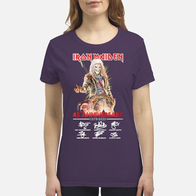 Iron Maiden 45th anniversary 1975 2020 premium women's shirt
