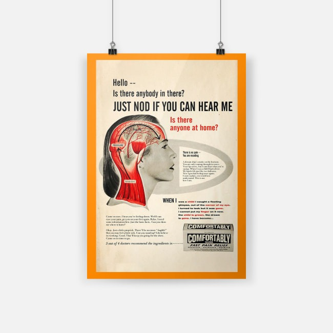Just nod if you can hear me orange poster