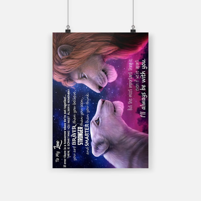 Lion King to my love I will always be with you white poster