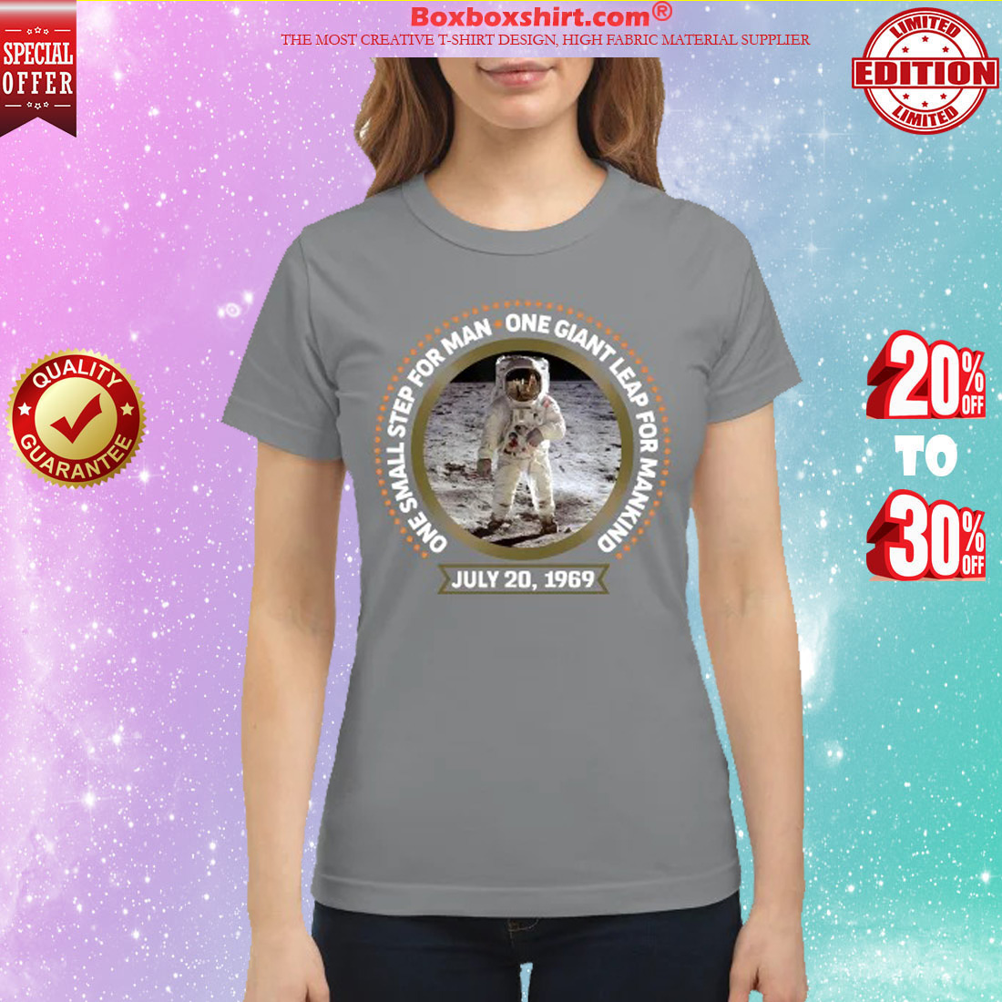 One small step for man one gaint leap for mankind classic shirt