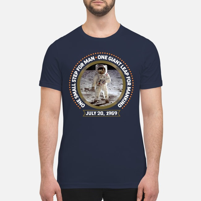 One small step for man one gaint leap for mankind premium men's shirt