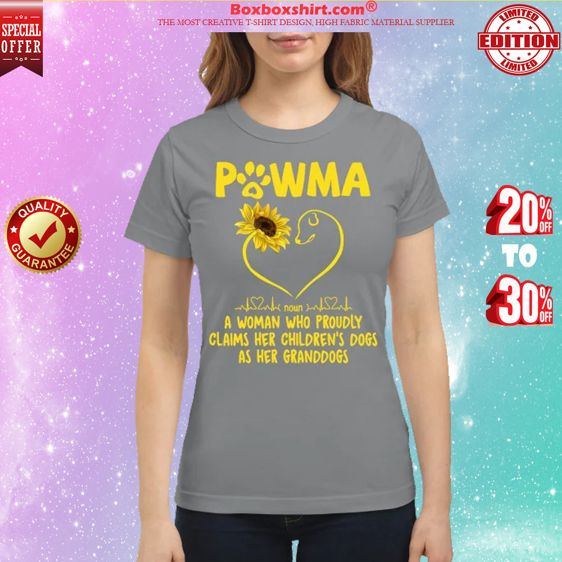 Pawma a woman who proudly claims her children dogs as her grandogs classic shirt