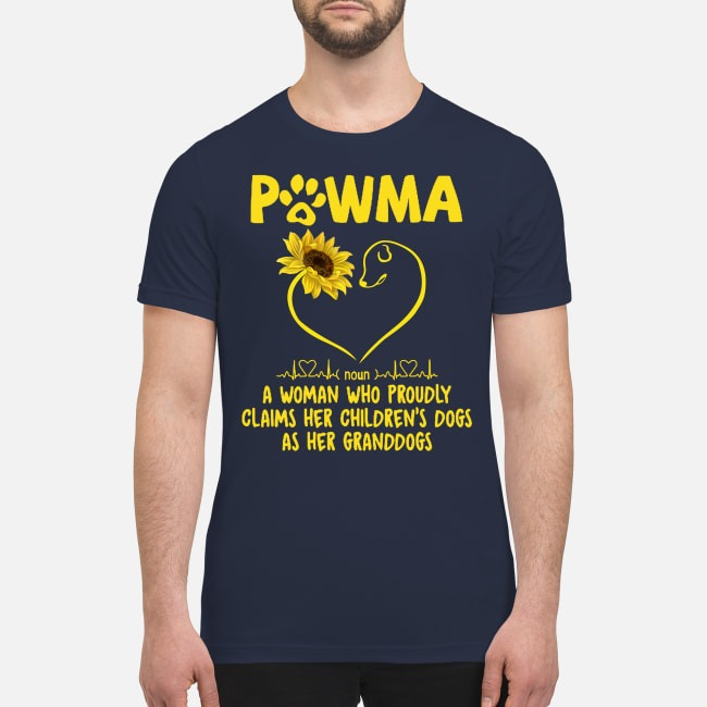 Pawma a woman who proudly claims her children dogs as her grandogs premium men's shirt