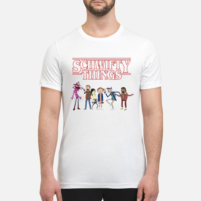 Schwifty things stranger thing premium men's shirt