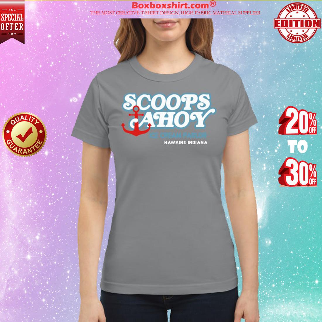 Scoopsahoy ice cream parlor classic shirt