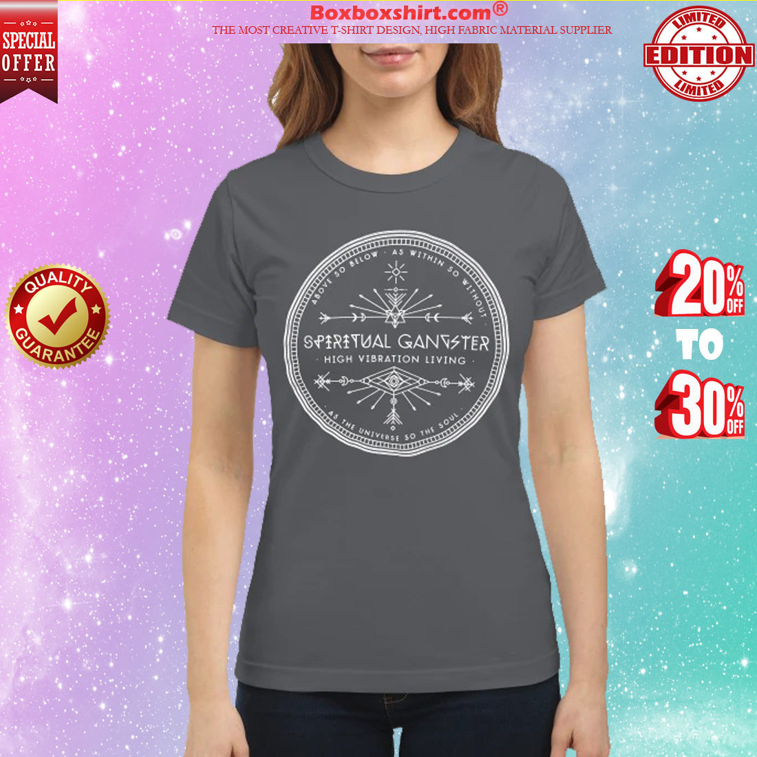 Spiritual gangster high vibration living classic shirt
