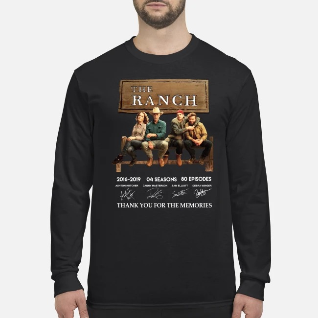 The Ranch 2016 2019 4 seasons 60 eposides thank you for the memories men's long sleeved shirt
