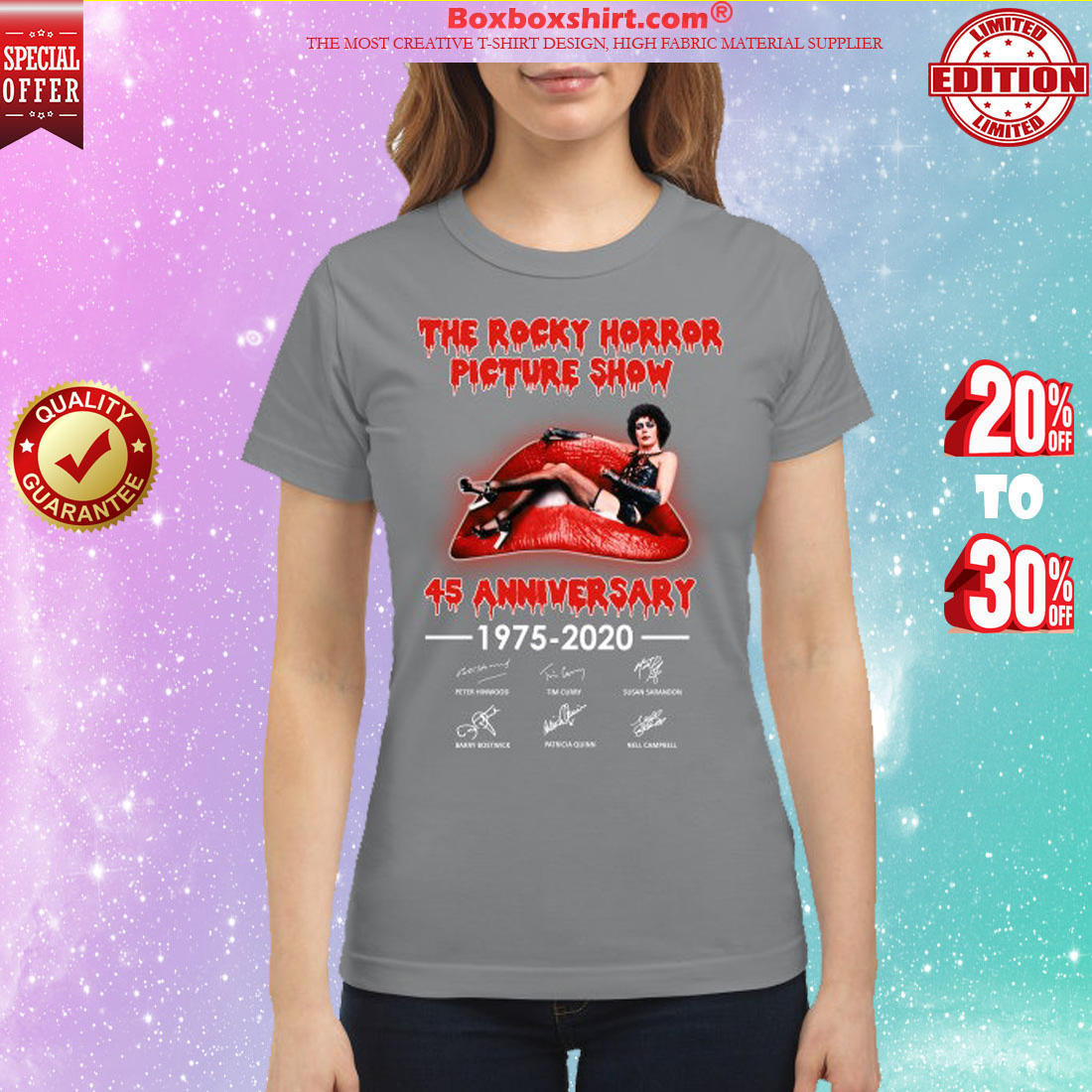 The Rocky horror picture show 45 anniversary classic shirt