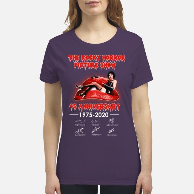 The Rocky horror picture show 45 anniversary premium women's shirt
