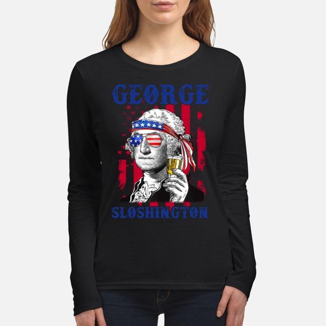 US America George Sloshington women's long sleeved shirt