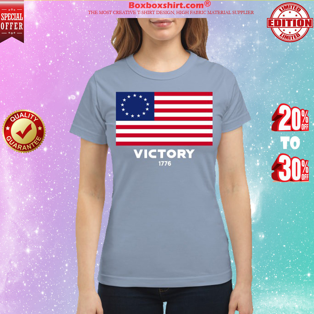USA American flag victory 1776 classic shirt