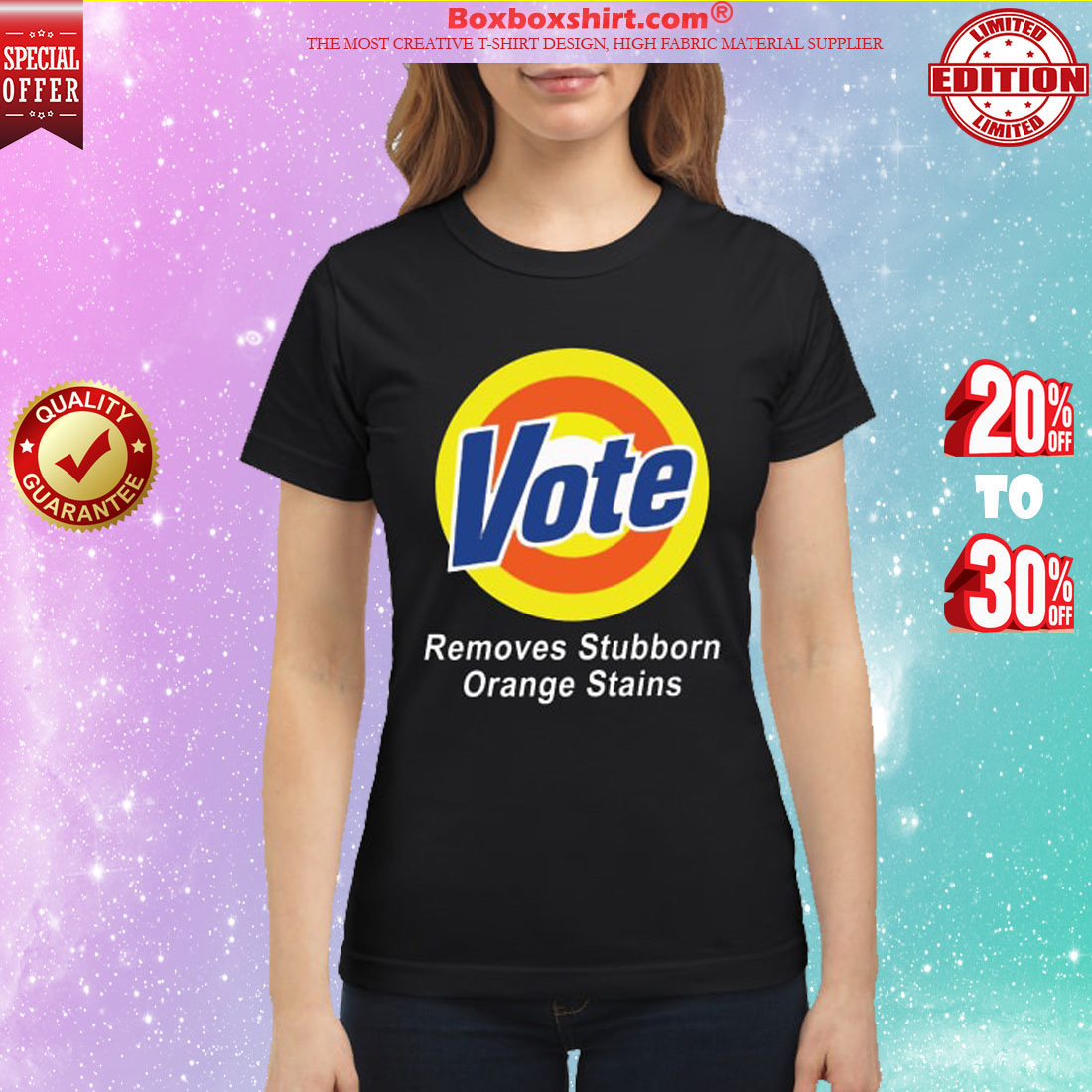 Vote remove stubborn orange stains classic shirt