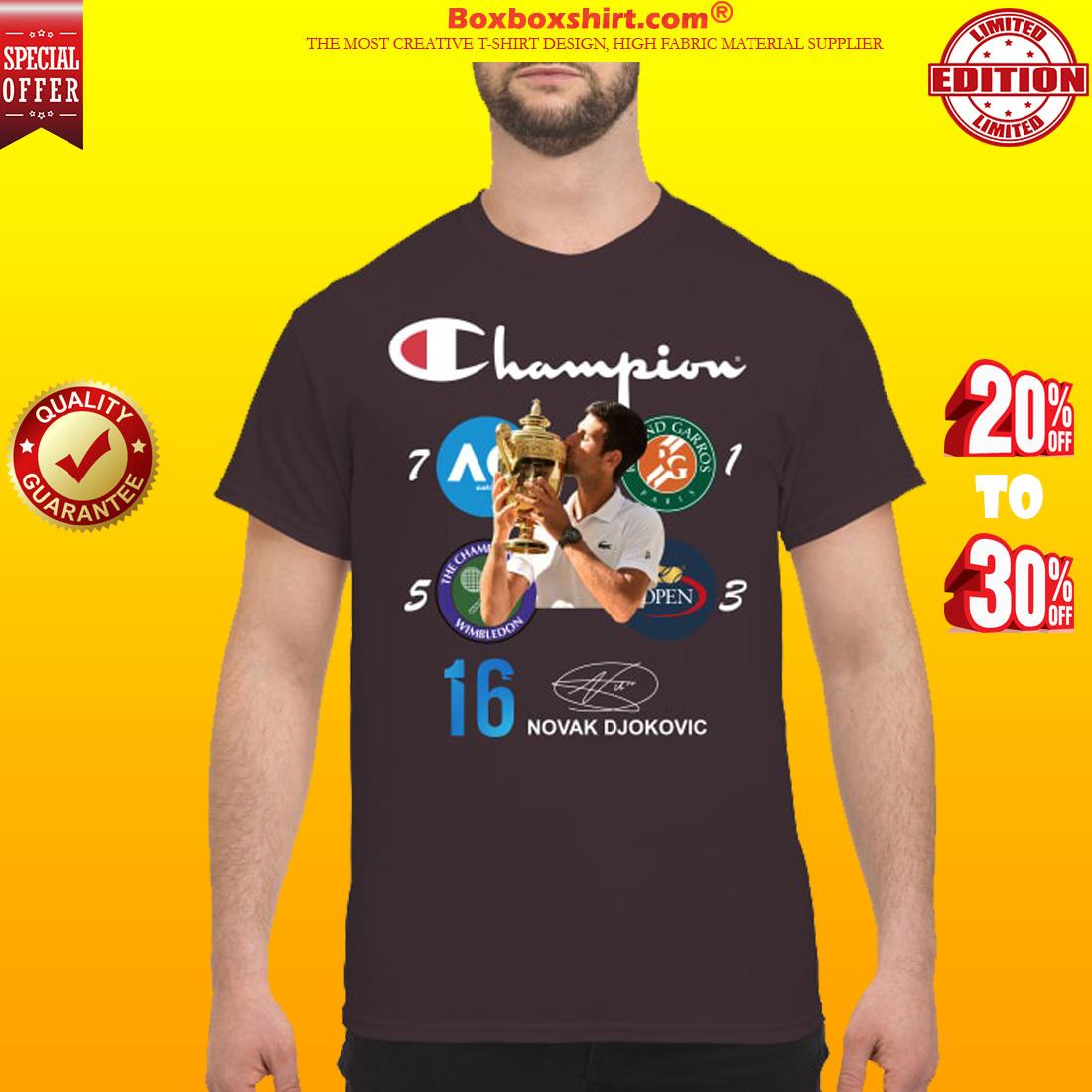 Wimbledon Champion Novak Djokovic 16th grand slam shirt