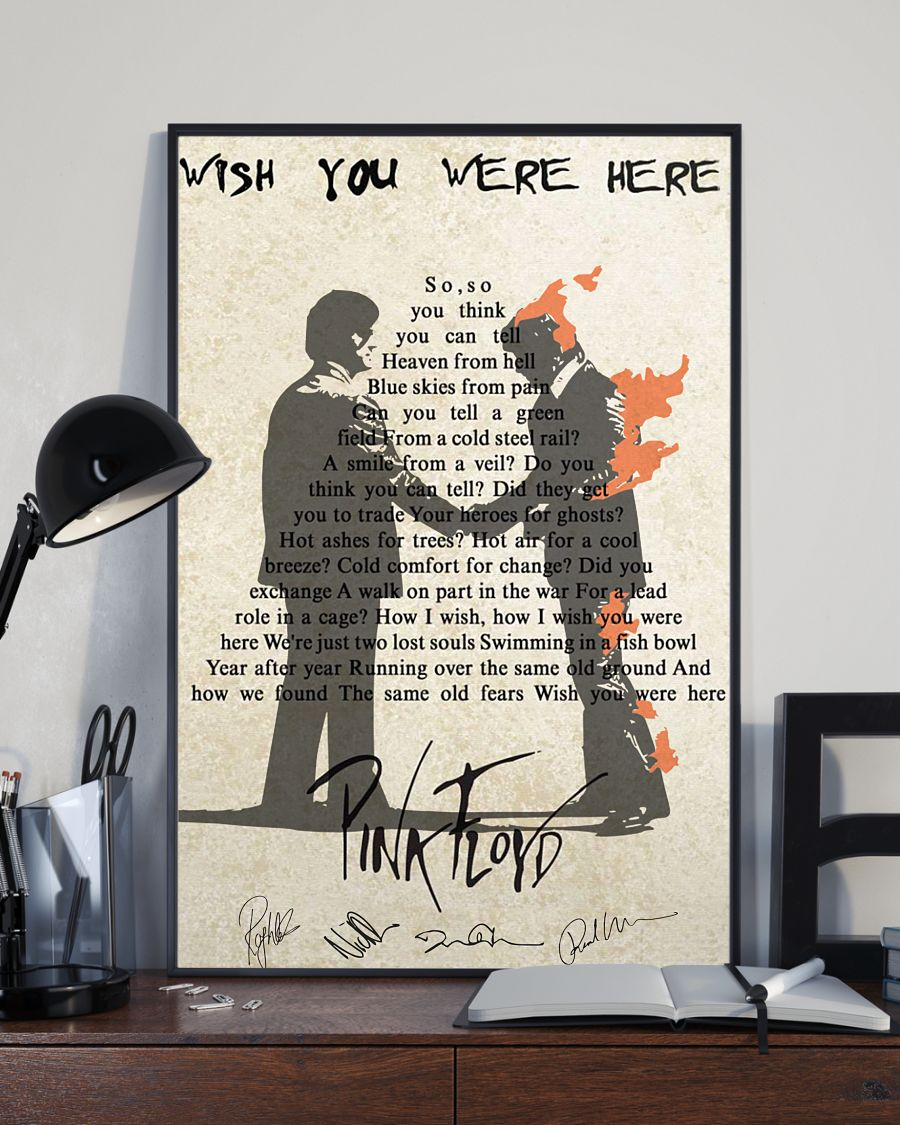 Wish you were here Pink Floyd cool poster