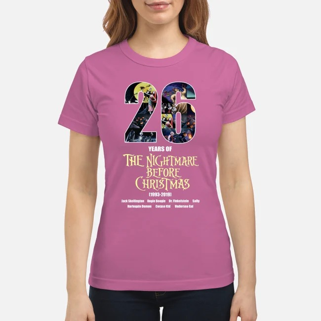 26 years of the nightmare before Christmas classic shirt