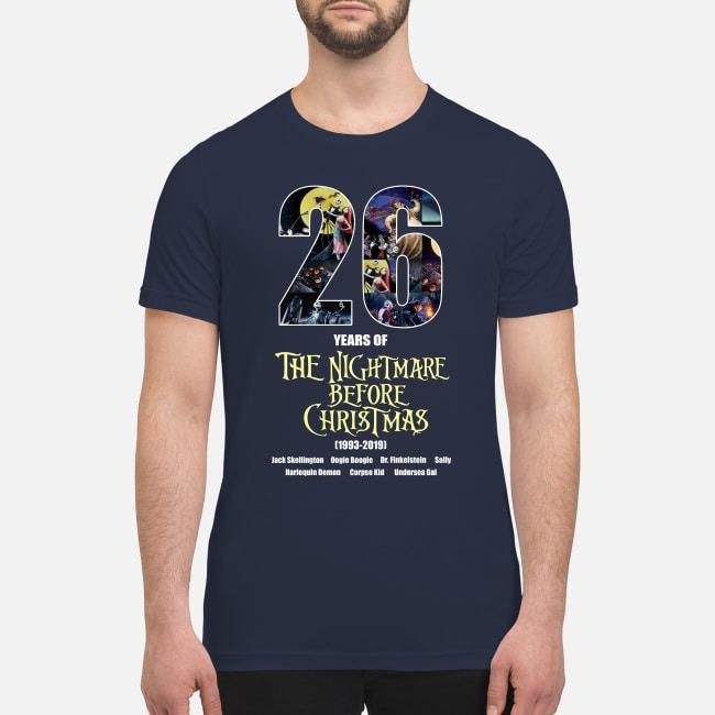 26 years of the nightmare before Christmas premium men's shirt