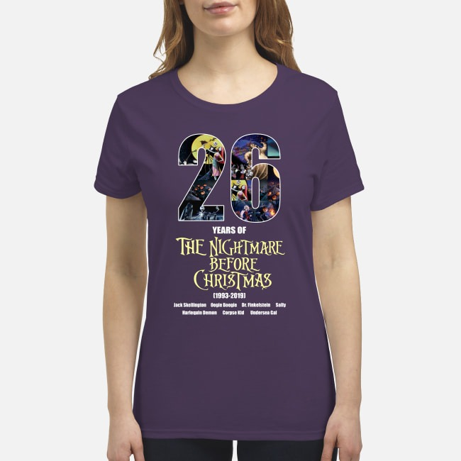 26 years of the nightmare before Christmas premium women's shirt