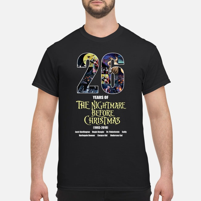 26 years of the nightmare before Christmas shirt