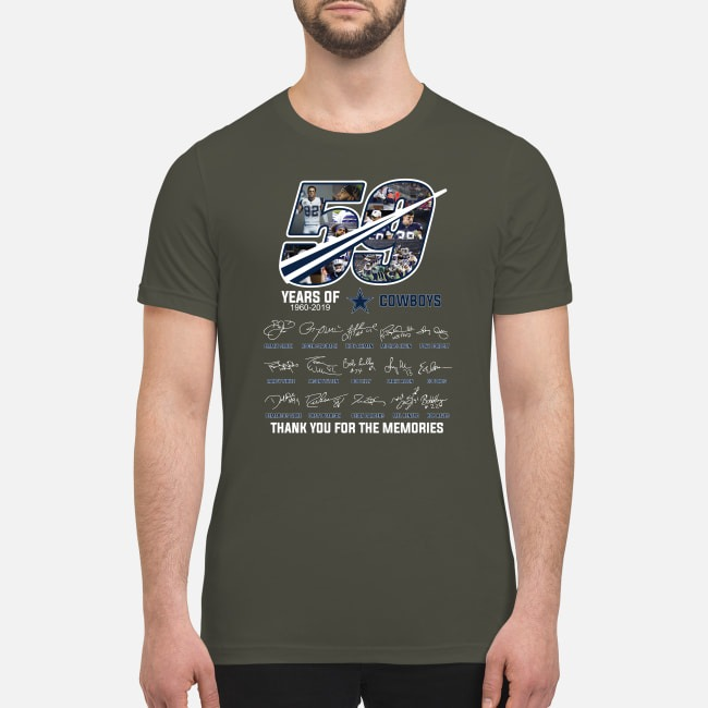 59 year of Cowboys thank you for the memories premium men's shirt