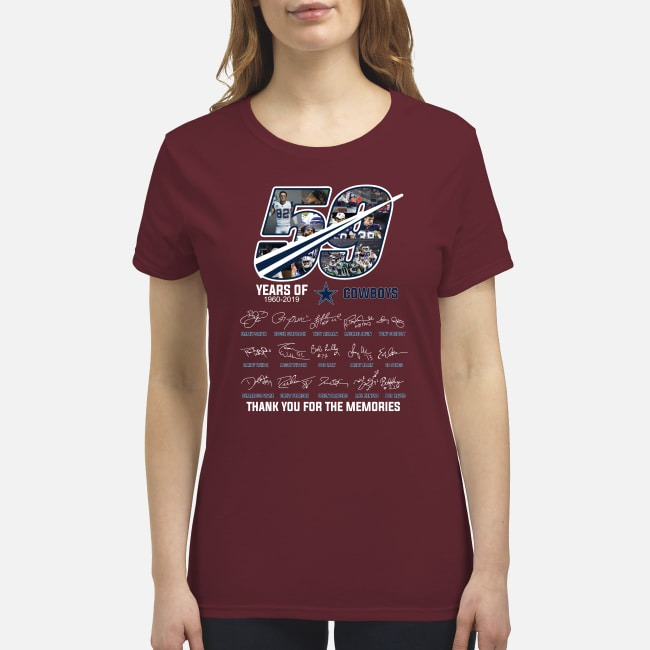 59 year of Cowboys thank you for the memories premium women's shirt.jpg
