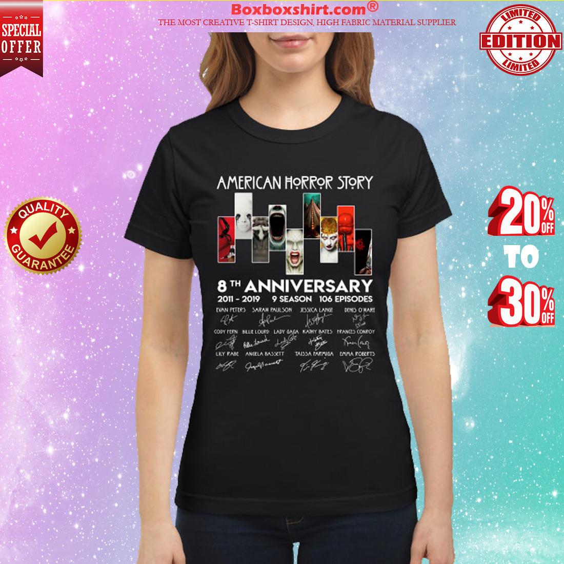 American horror stories 8th anniversary classic shirt