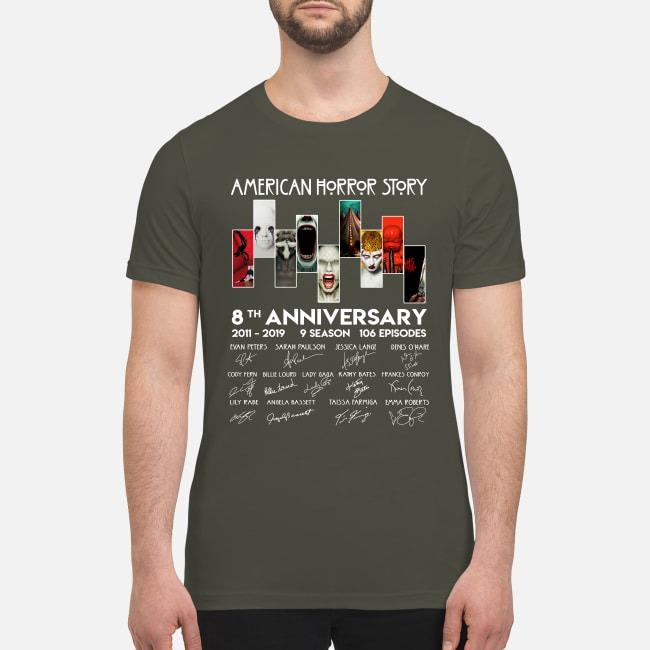 American horror stories 8th anniversary premium men's shirt