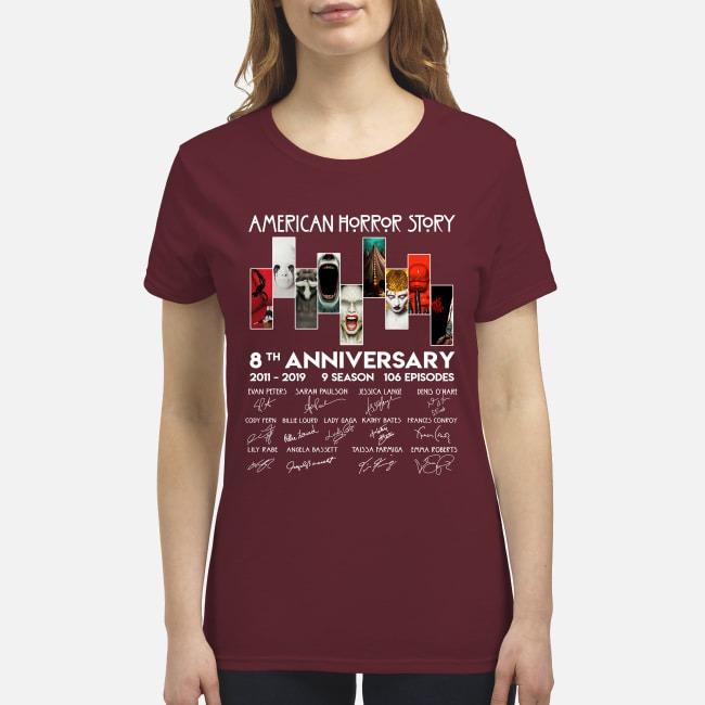 American horror stories 8th anniversary premium women's shirt