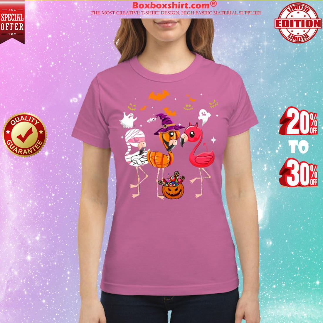 Flamingos halloween classic shirt