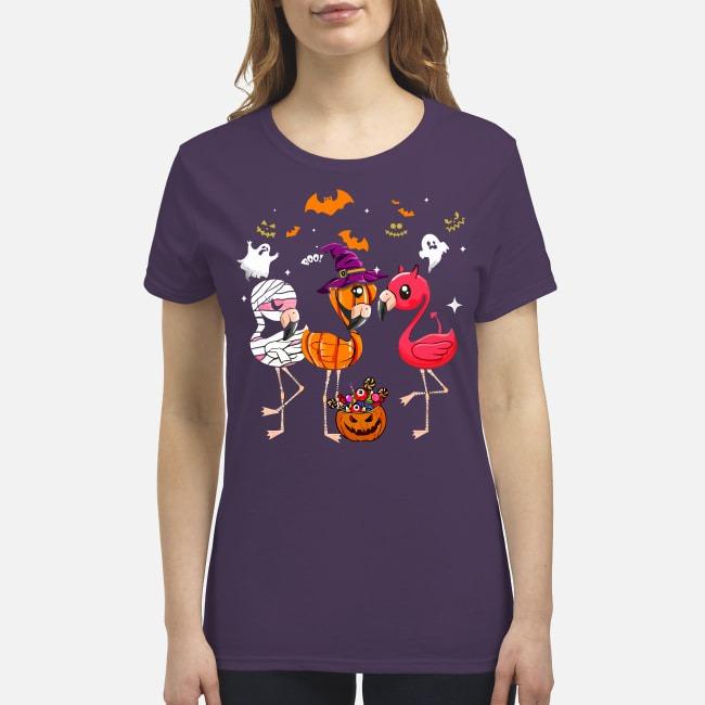 Flamingos halloween premium women's shirt