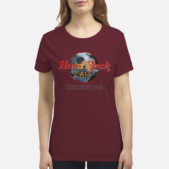 Hard rock cafe death star premium women's shirt