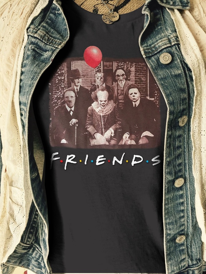 Horror movies character Friend TV show shirts