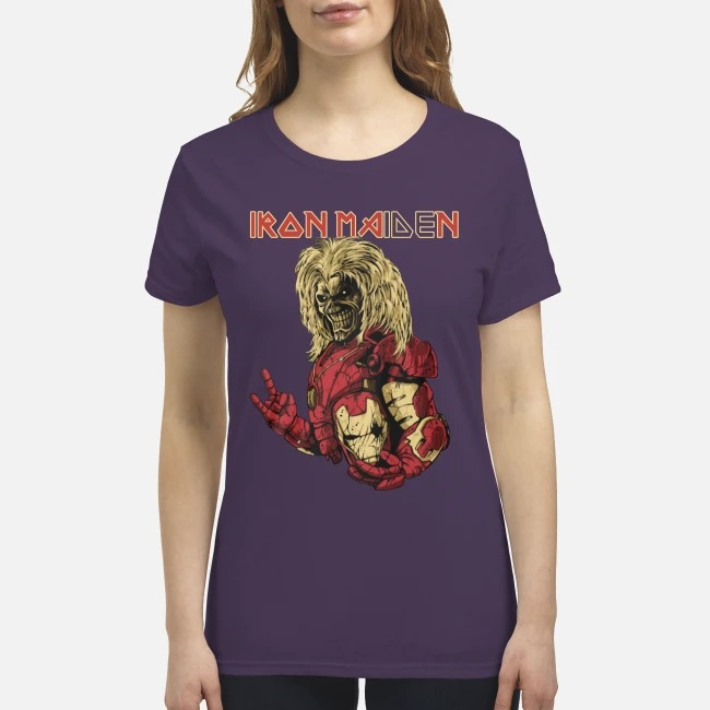 Iron man iron maiden premium women's shirt