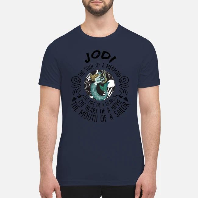 Jodi the soul of mermaid the fire of linoness premium men's shirt