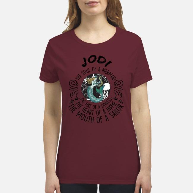 Jodi the soul of mermaid the fire of linoness premium women's shirt