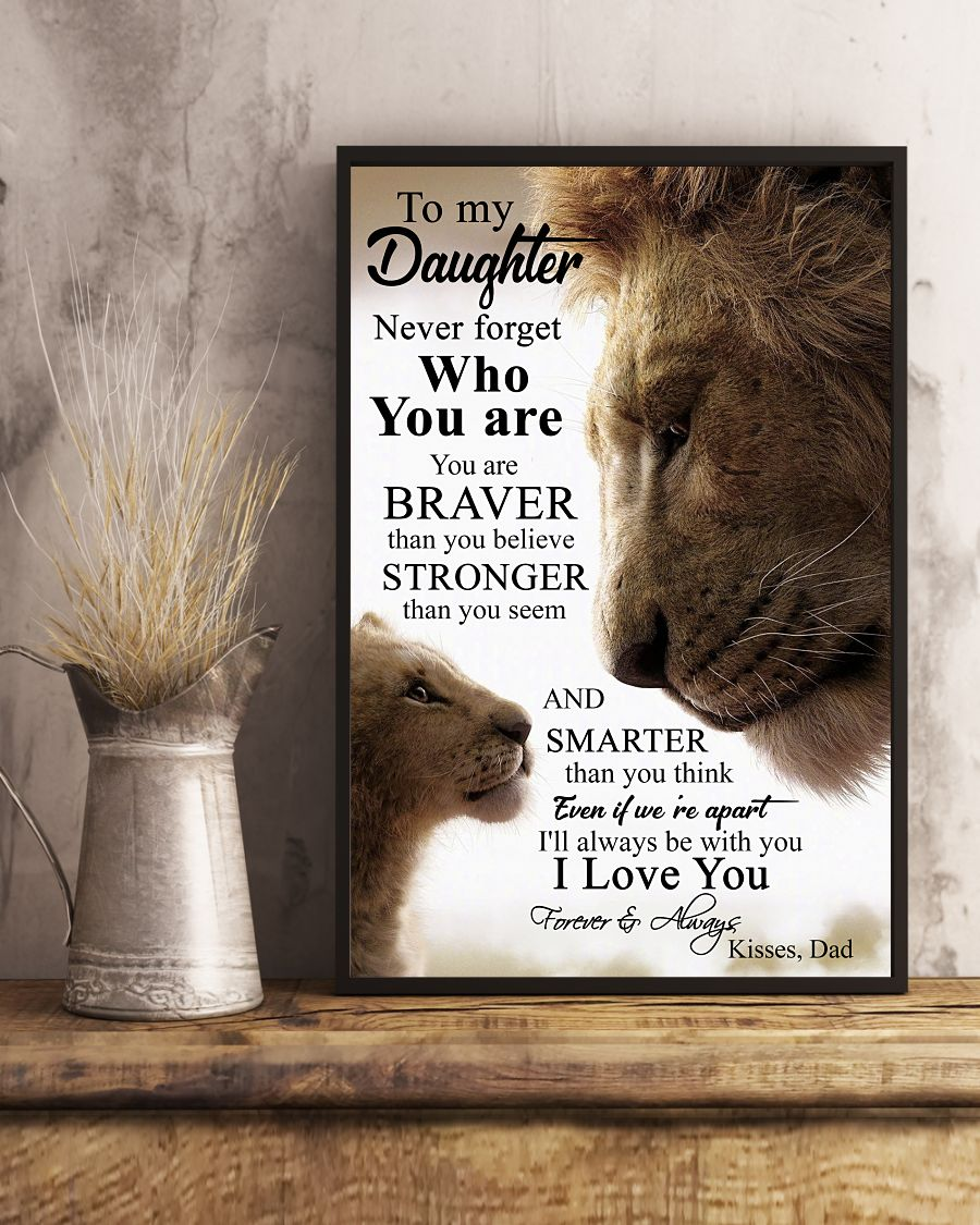 Lion King To my daughter never forget who you are cool poster