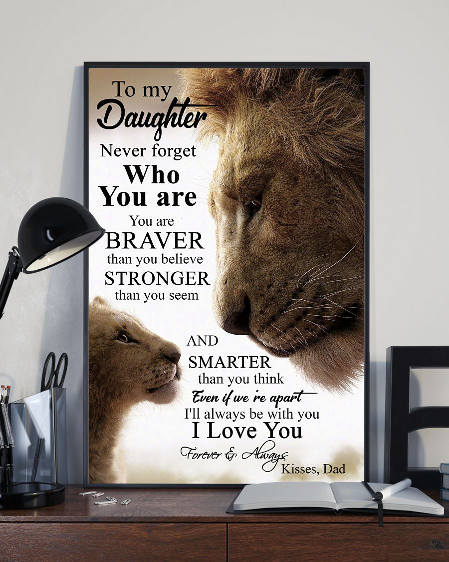 Lion King To my daughter never forget who you are posters