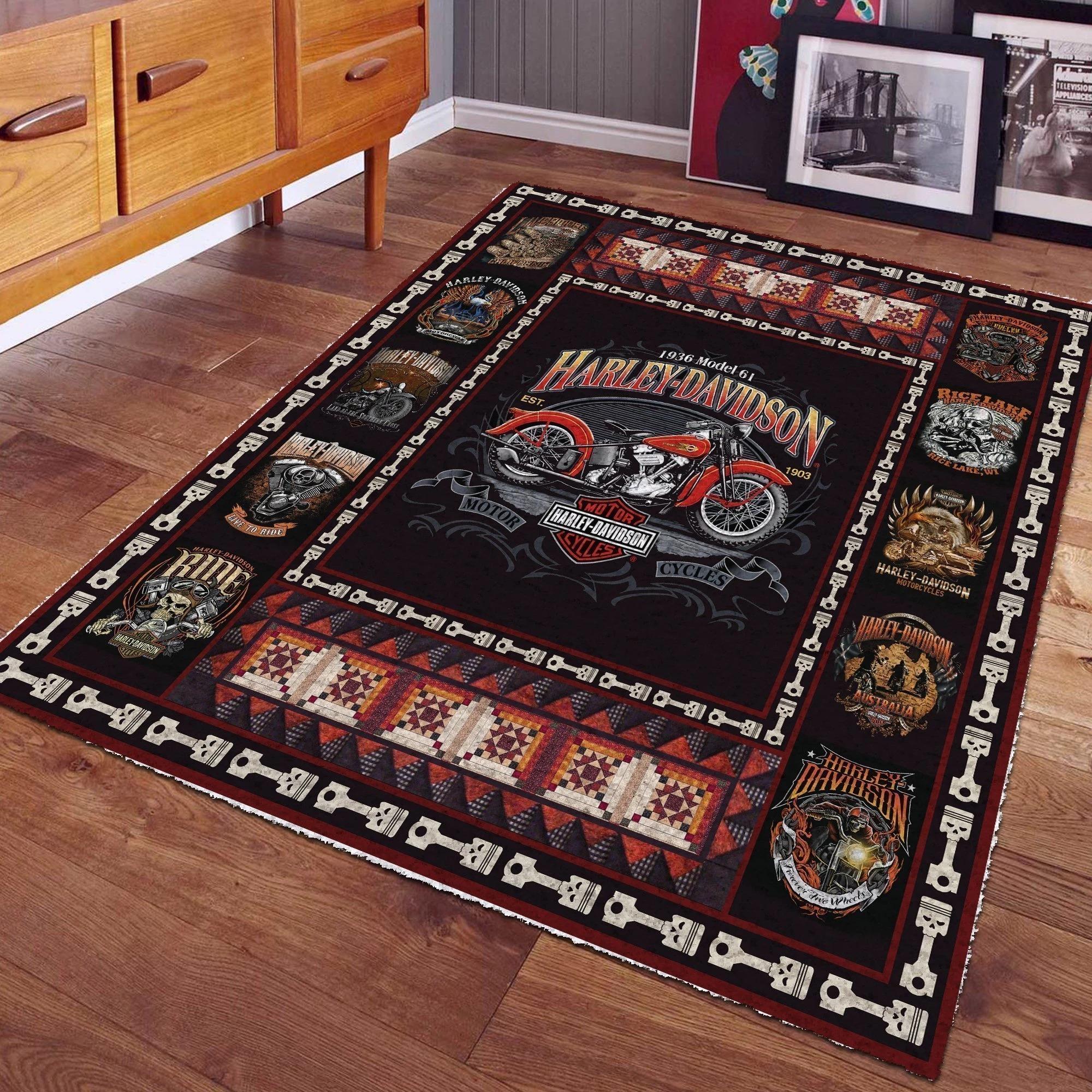 1936 Harley Davidson cool rug