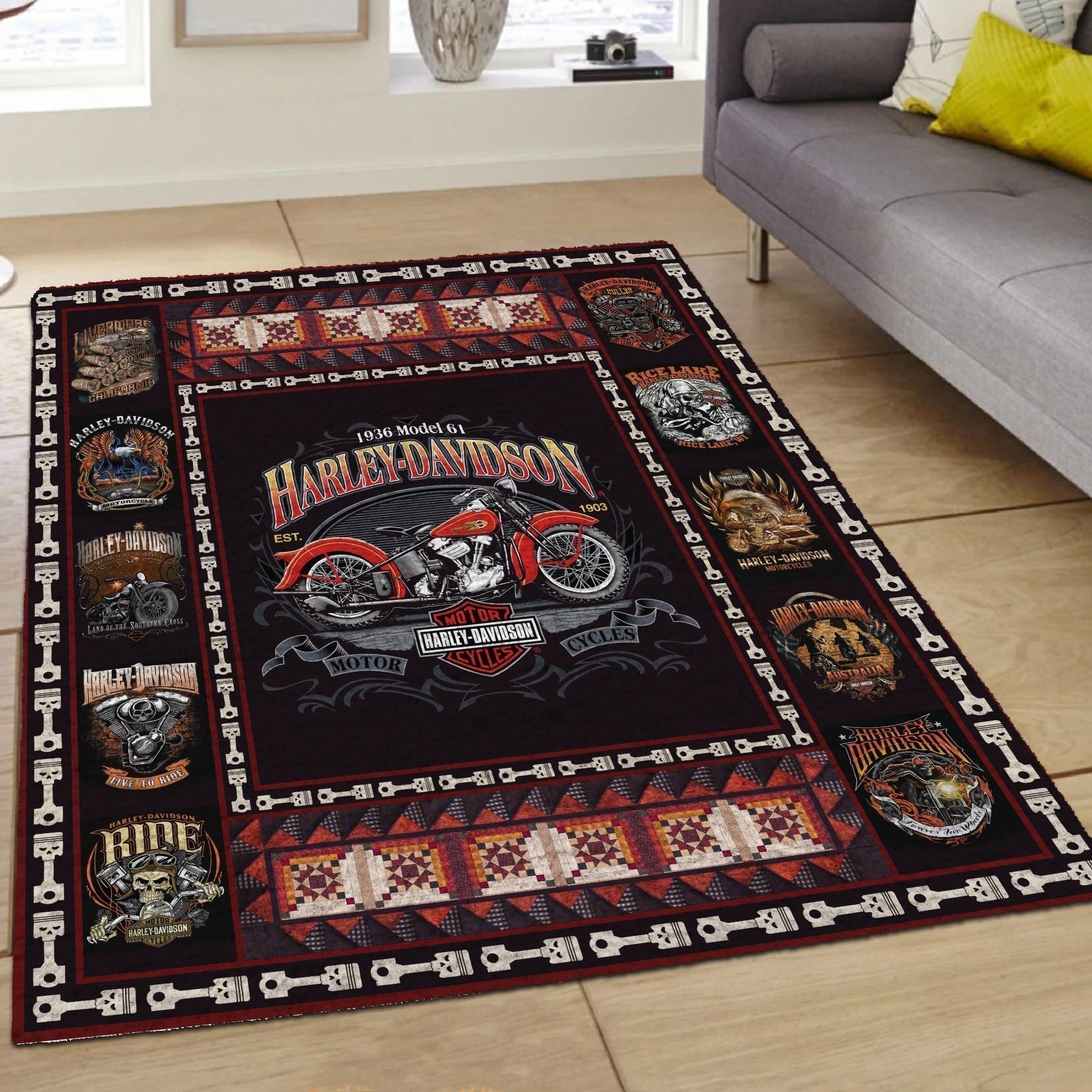 1936 Harley Davidson hot rug