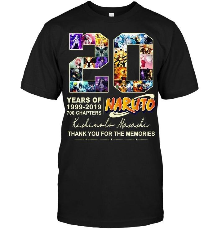 20 years of Naruto Kishimoto Masashi classic shirt