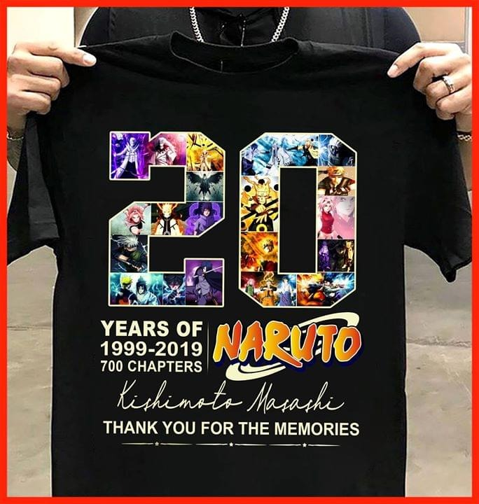 20 years of Naruto Kishimoto Masashi shirt