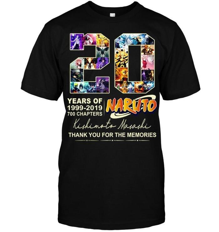 20 years of Naruto Kishimoto Masashi shirts