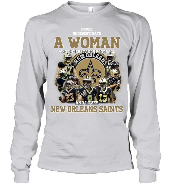 A woman who understand football and love New Orleans Saints classic shirt