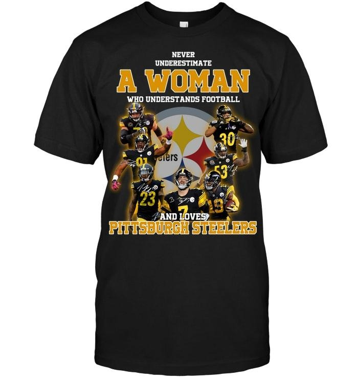 A woman who understand football and love Pittsburgh Steelers classic shirt