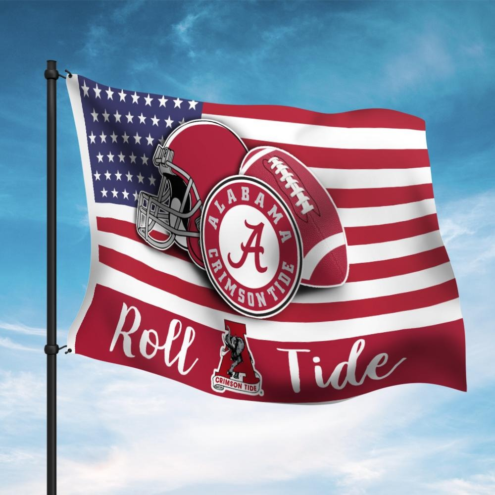 America Alabama Crimson tide flag