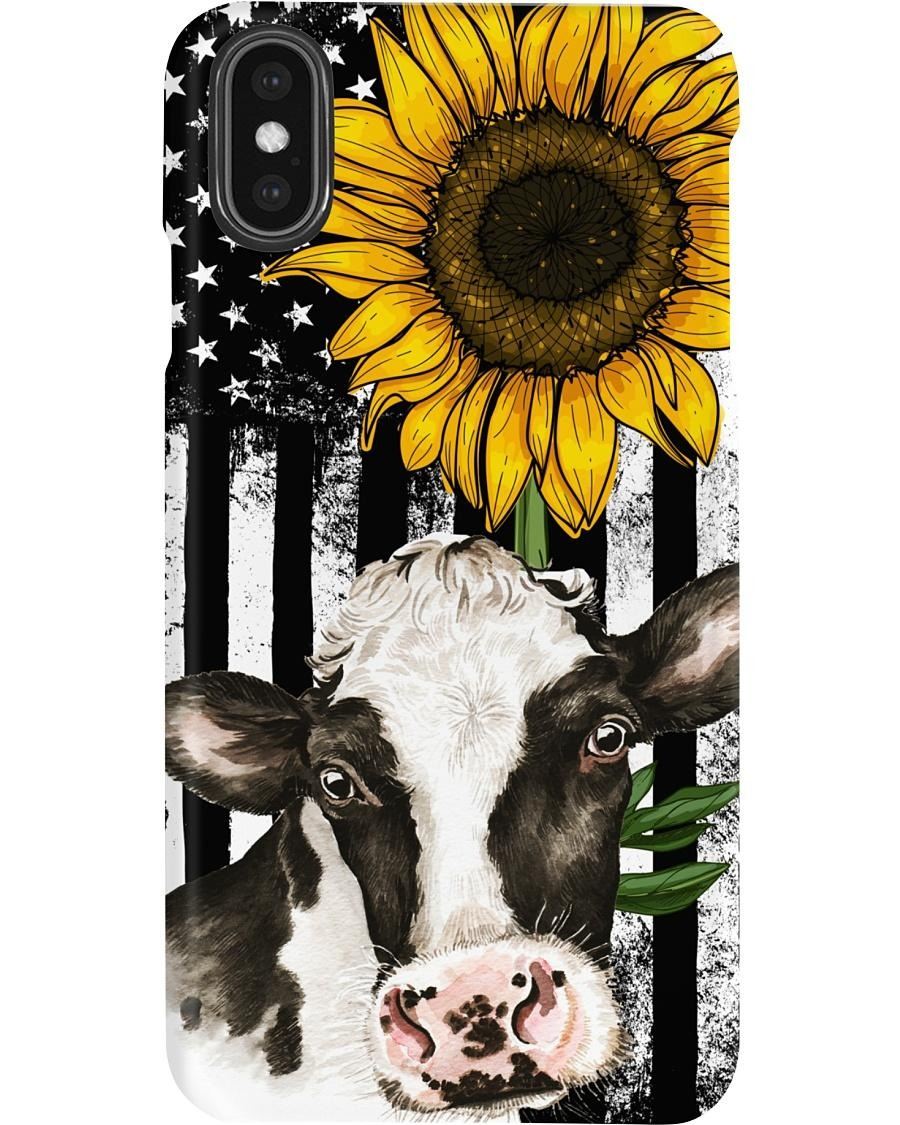 Cow American flag sunflower phone cases