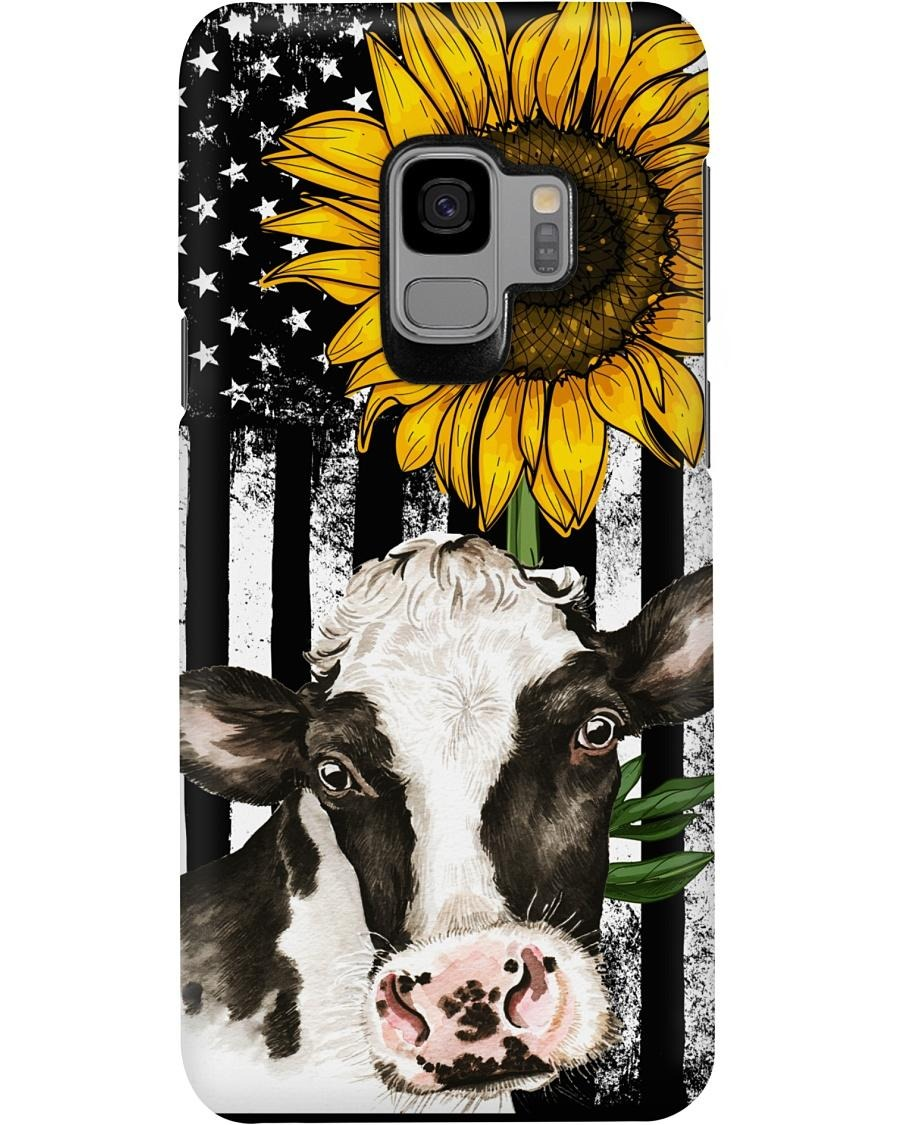 Cow American flag sunflower phone hot case