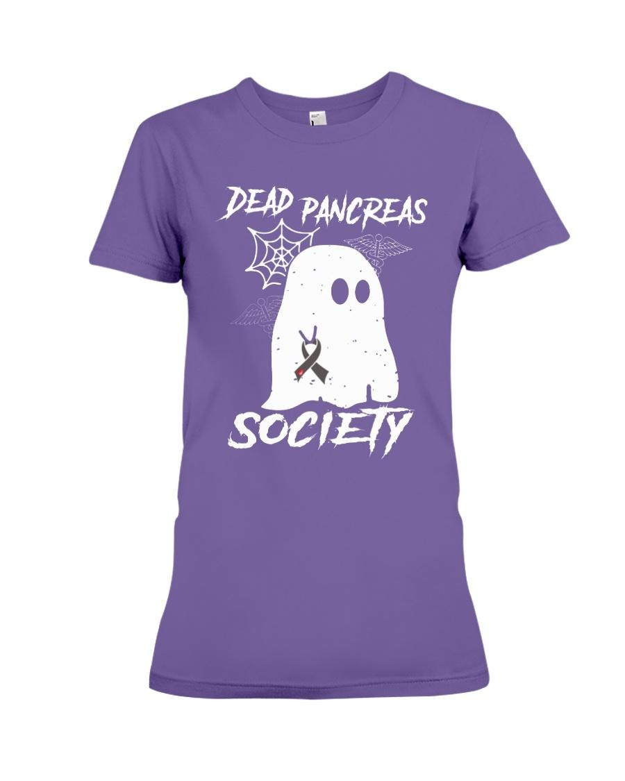 Dead pancreas society premium ladies shirt