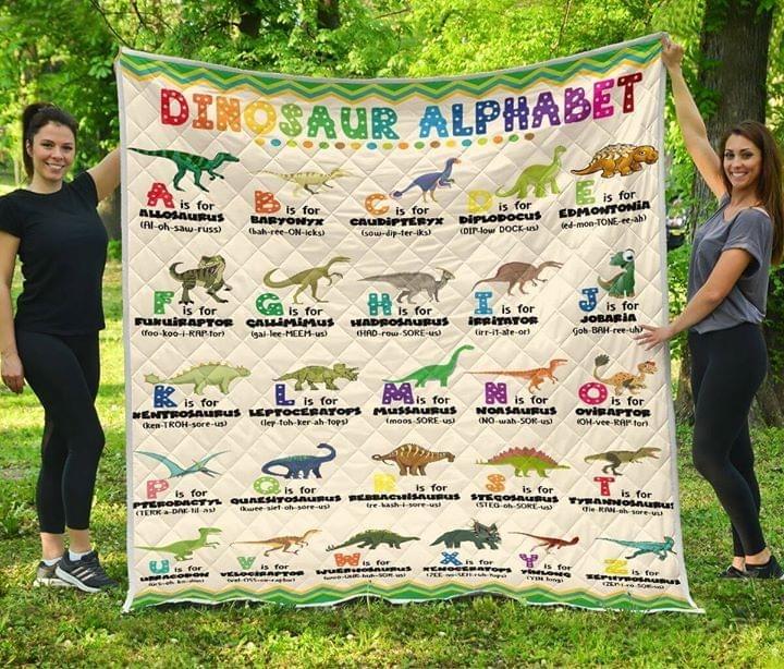 Dinosaur alphabet quilt