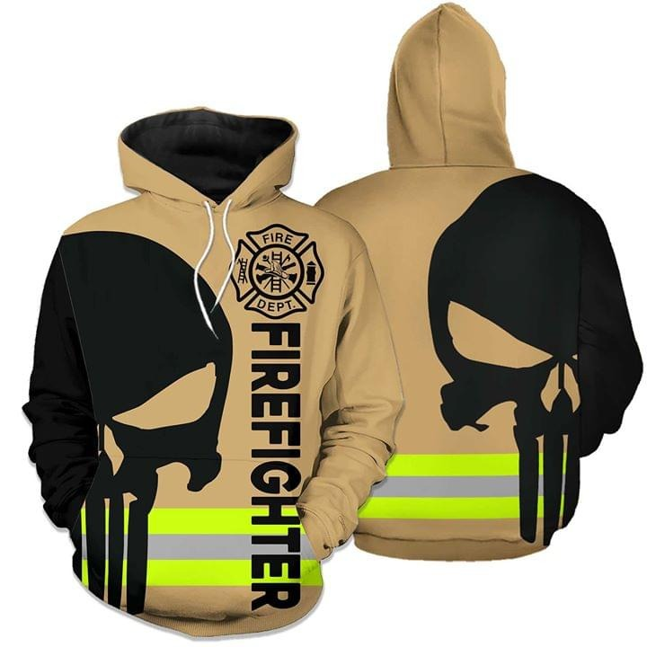 Firefighter dept skull 3d hoodie